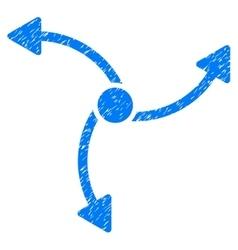 Swirl direction grainy texture icon vector