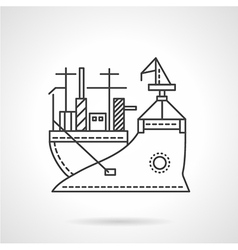Transport vessel line icon vector image vector image