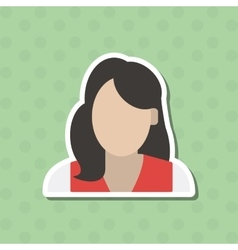 woman icon design vector image