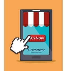 Web shopping ecommerce online icon vector