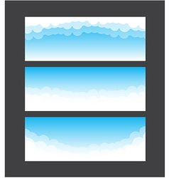 Nature banner template blue sky and cloud element vector