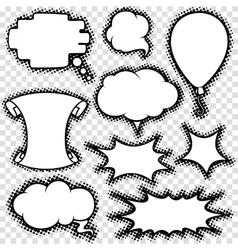 Speech Bubble Set  Comics Retro Design vector image