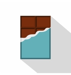 Chocolate bar icon flat style vector