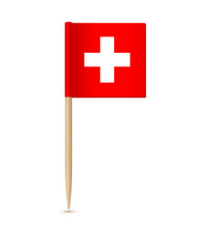 swiss flag flag toothpick switzerland vector image