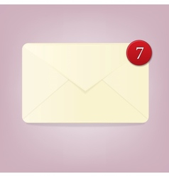 Blank envelope with number of notifications vector image