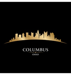 Columbus ohio city skyline silhouette vector