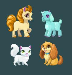 Little cute pets vector