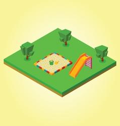 Isometric sandbox vector image