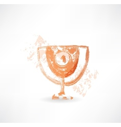 goblet grunge icon vector image
