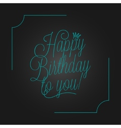 birthday vintage lettering design background vector image