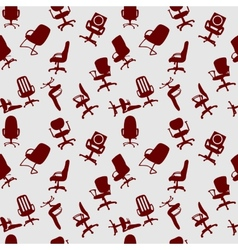 Seamless pattern of Office chairs silhouettes vector image
