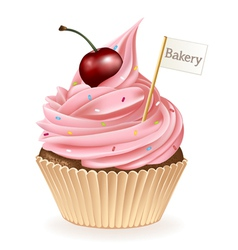Bakery cupcake vector