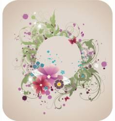 grunge elegant floral frame vector image