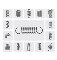 Metal springs set vector