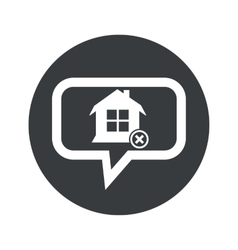 Round remove house dialog icon vector
