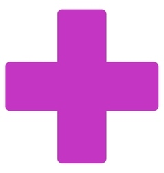 Plus flat violet color icon vector
