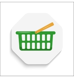 Shopping cart icon button modern material design vector