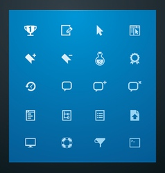 Universal glyphs 9 web icons vector