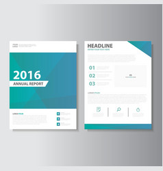 Green blue annual report presentation templates vector