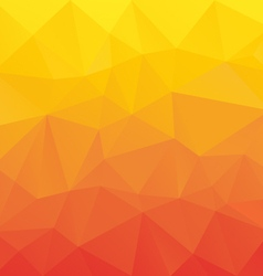 Red orange yellow gradient abstract polygon vector