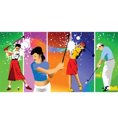 club golf champions vector image