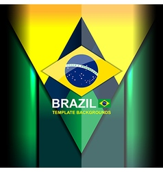 Brazil color backgrounds design vector