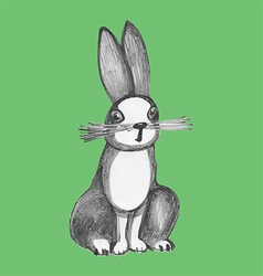 Traditional art rabbit vector