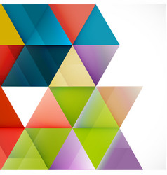 abstract colorful triangle geometric modern vector image vector image