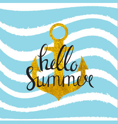 Abstract design summer bakground with anchor and vector