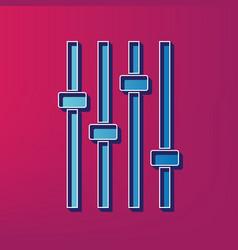 Adjustment music line sign blue 3d vector