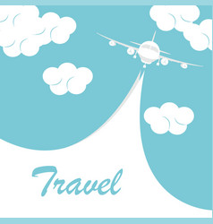 airplane with white ribbon vector image
