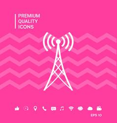 Antenna icon symbol vector