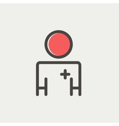 Doctor thin line icon vector