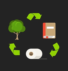 Ecology cycle of paper Abstract scheme vector image