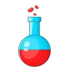 Flask with love fluid icon cartoon style vector