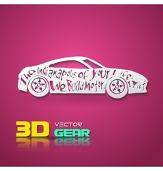 Flat paper style car vector