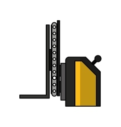 Forklift machine logistic icon vector