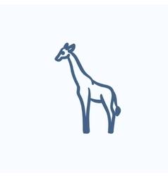 Giraffe sketch icon vector image