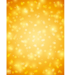 Golden background with snowflake and bokeh vector