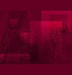 Grunge cartoon spotted halftones red purple modern vector
