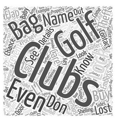 How to care for your golf clubs like a baby word vector