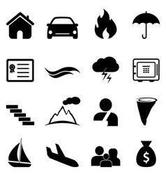 Insurance and accident icon set vector