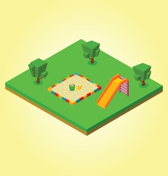 Isometric sandbox vector