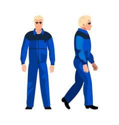 male handyman in uniform vector image vector image