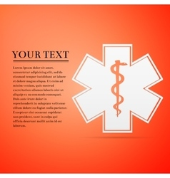Medical symbol of the emergency - star life flat vector