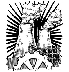 Nuclear power station vector image