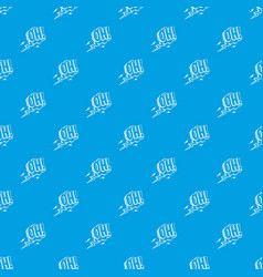 oh speech bubble pattern seamless blue vector image