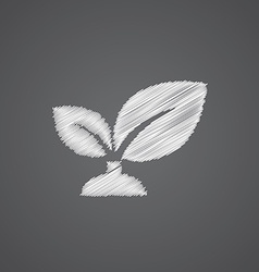 Plant sketch logo doodle icon vector
