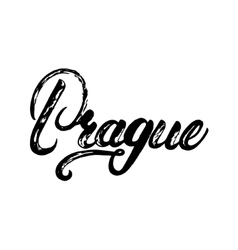 Prague Czech Republic hand written calligraphy vector image vector image