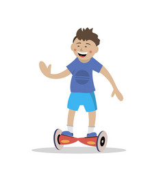 ride the segway vector image vector image
